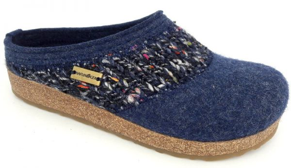 Haflinger Hausschuhe Grizzly Anke jeans 524-80-0004